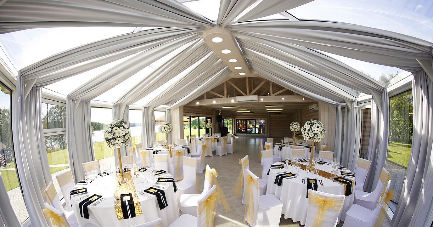"""NB Deco (Neringa Bakanauskienė) salės dekoravimas vestuvėms viloje sodyboje """"Pas Šeštoką"""""""