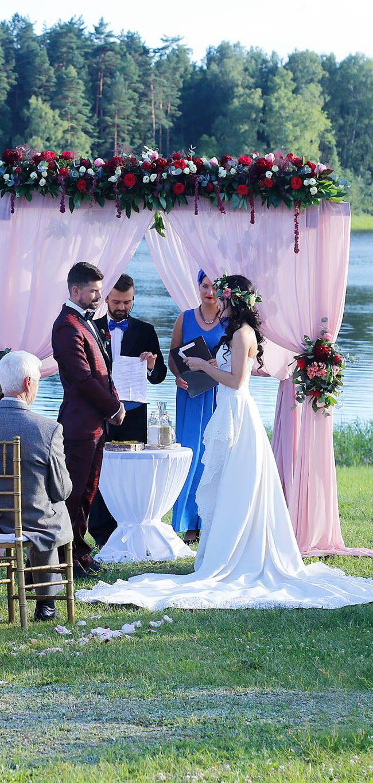 """Santuokos ceremonija prie ežero viloje """"Pas Šestoką"""""""