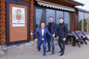 Renginių vedėjas Darius Šepulis ir DJ Edvard Raguckij