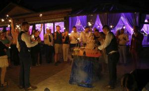 Renginių vedėjo Lino Lapėno šampano piramidė
