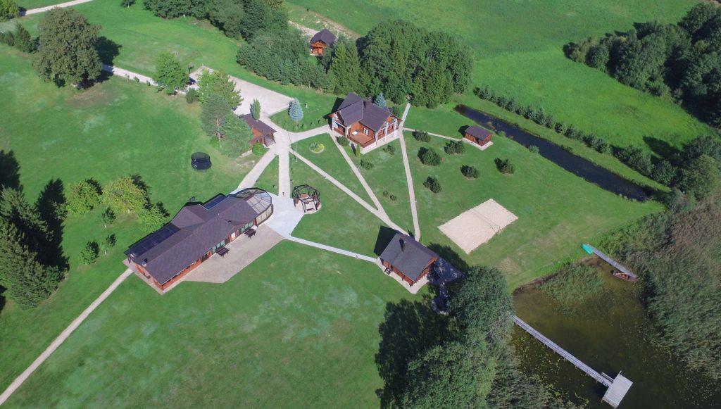 Vilos Pas Šeštoką vaizdas iš viršaus, planas